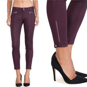 Level 99 Riley skinny moto wine skinny jeans NWT